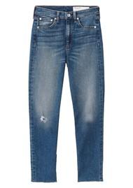RAG & BONE Nina High Rise Ankle Skinny Jeans - Norwalk