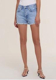 AGOLDE Parker Vintage Cuff Off Denim Shorts - Swapmeet