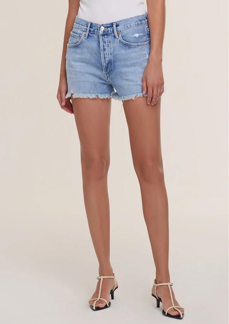 AGOLDE Parker Vintage Cuff Off Denim Shorts - Swapmeet main image