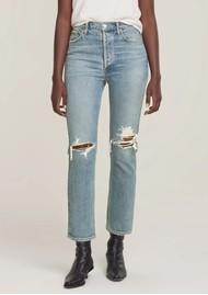 AGOLDE Riley High Rise Crop Straight Leg Jean - Whiplash