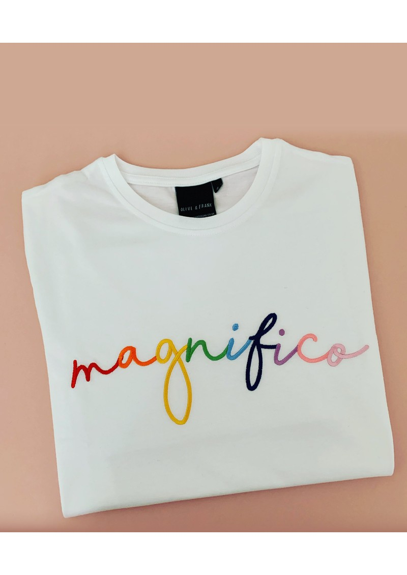 OLIVE & FRANK Magnifico Cotton Tee - White main image