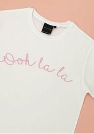 OLIVE & FRANK Ooh La La Cotton Tee - White & Pink