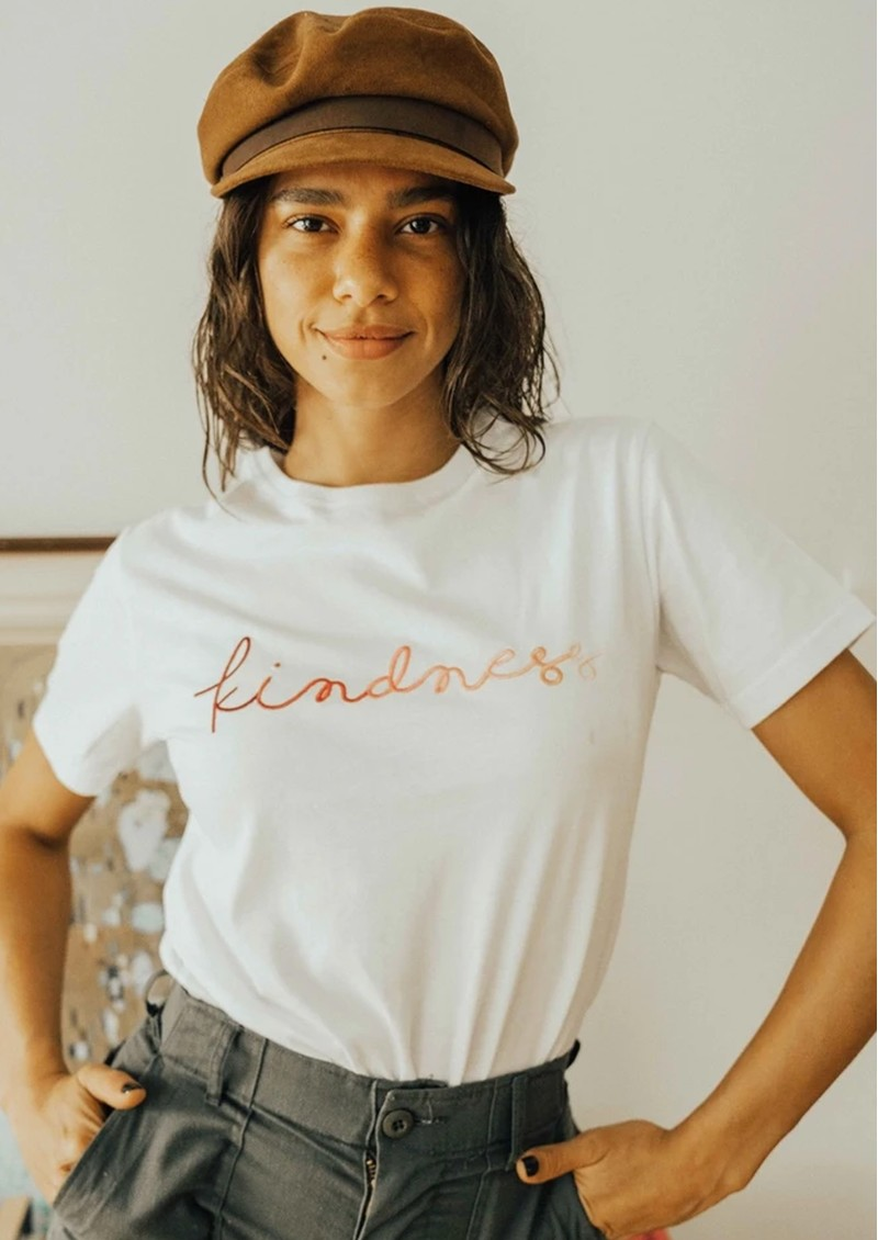 OLIVE & FRANK Kindness Cotton Tee - White main image