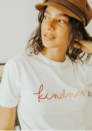OLIVE & FRANK Kindness Cotton Tee - White