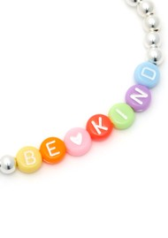 BONNY & BLITHE Be Kind Beaded Bracelet - Multi Brights & Silver