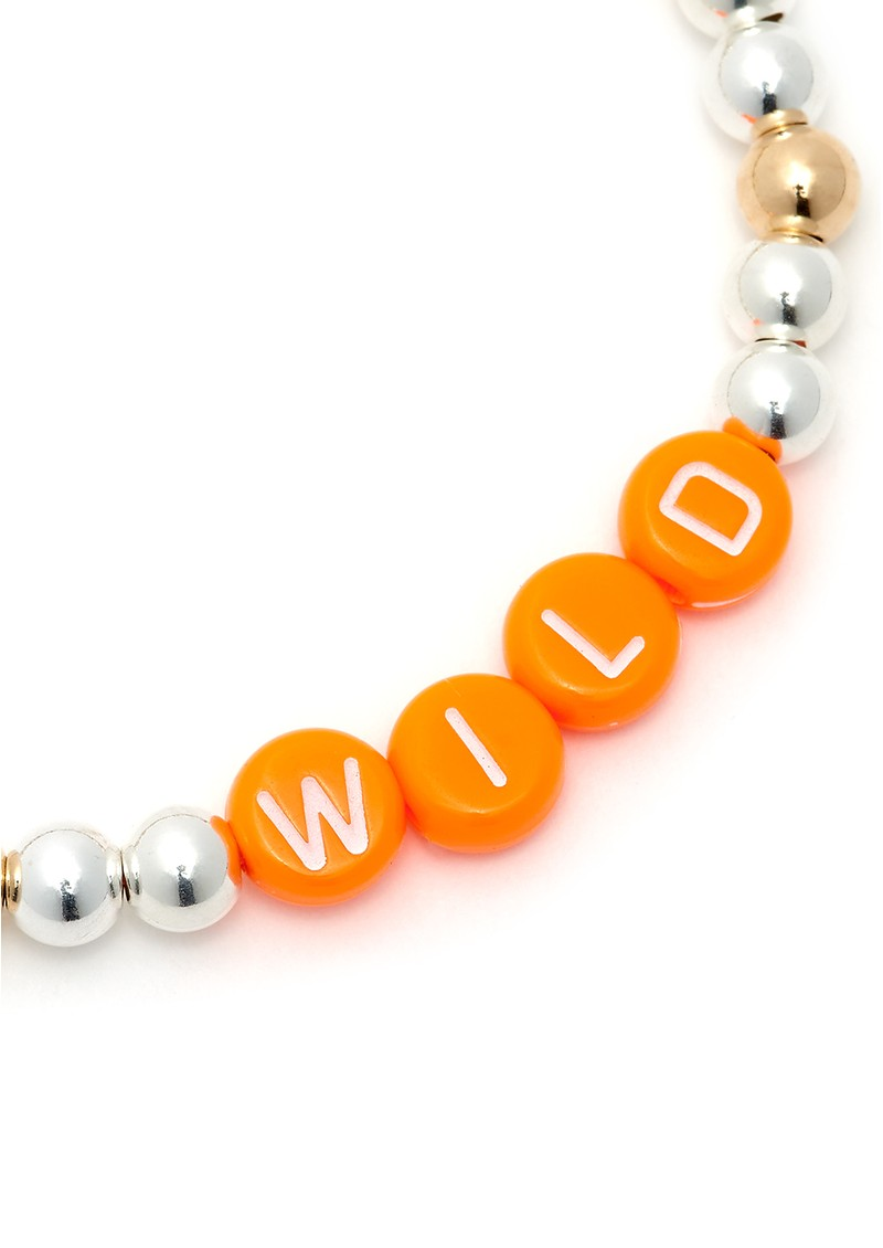 BONNY & BLITHE Wild Orange Beaded Bracelet - Silver & Gold main image