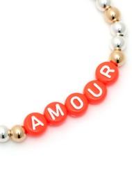 BONNY & BLITHE Amour Coral Beaded Bracelet - Silver & Gold