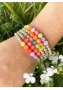 Amour Coral Beaded Bracelet - Silver & Gold additional image