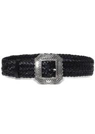 Ba&sh Braid Leather Belt - Black