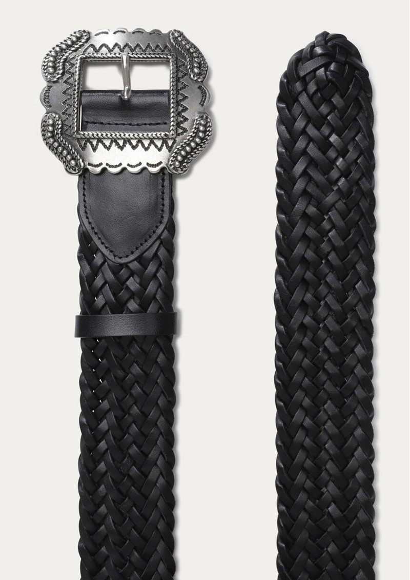 Ba&sh Braid Leather Belt - Black main image