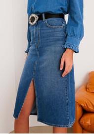 Ba&sh Dona Denim Skirt - Handbrush
