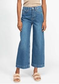 RAG & BONE Maya High Waisted Ankle Wide Leg Jeans - Rye Harbor