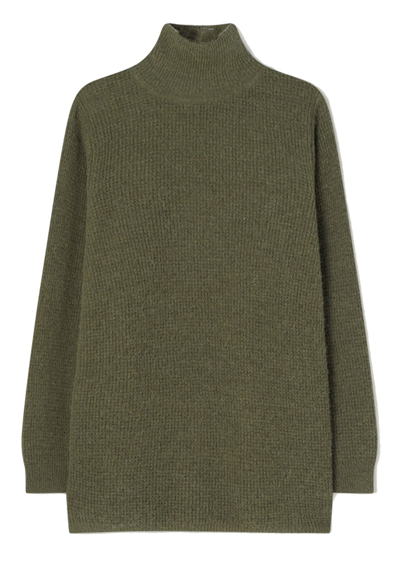 American Vintage Omobay High Collar Long Length Jumper - Khaki main image