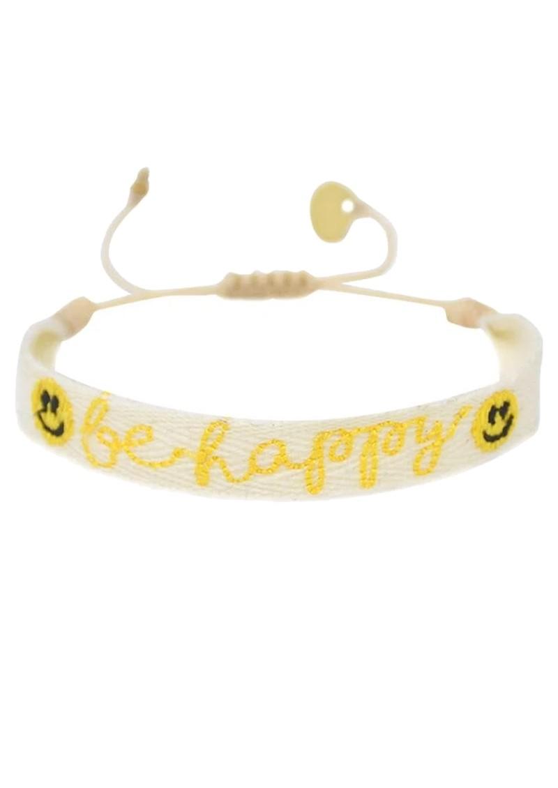 MISHKY Be Happy Beaded Bracelet - Yellow main image