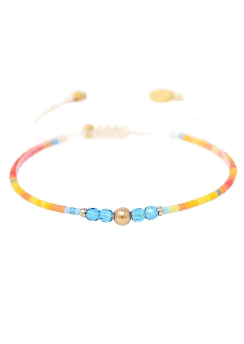 MISHKY Liny Beaded Bracelet -Yellow, Orange & Blue main image