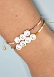 MISHKY Love Small Beaded Bracelet - Gold