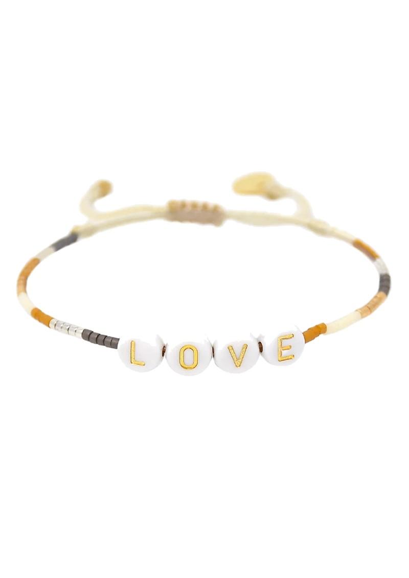 MISHKY Love Small Beaded Bracelet - Gold main image