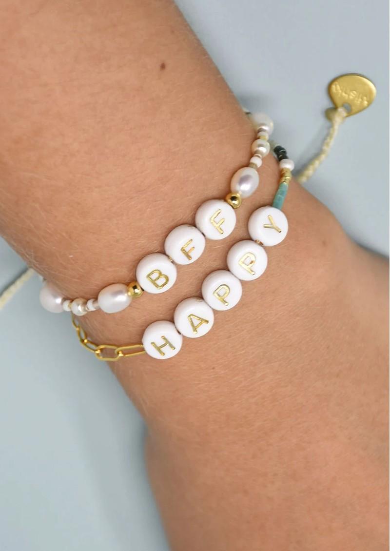 MISHKY Happy 2.0 Small Beaded Bracelet - Gold main image