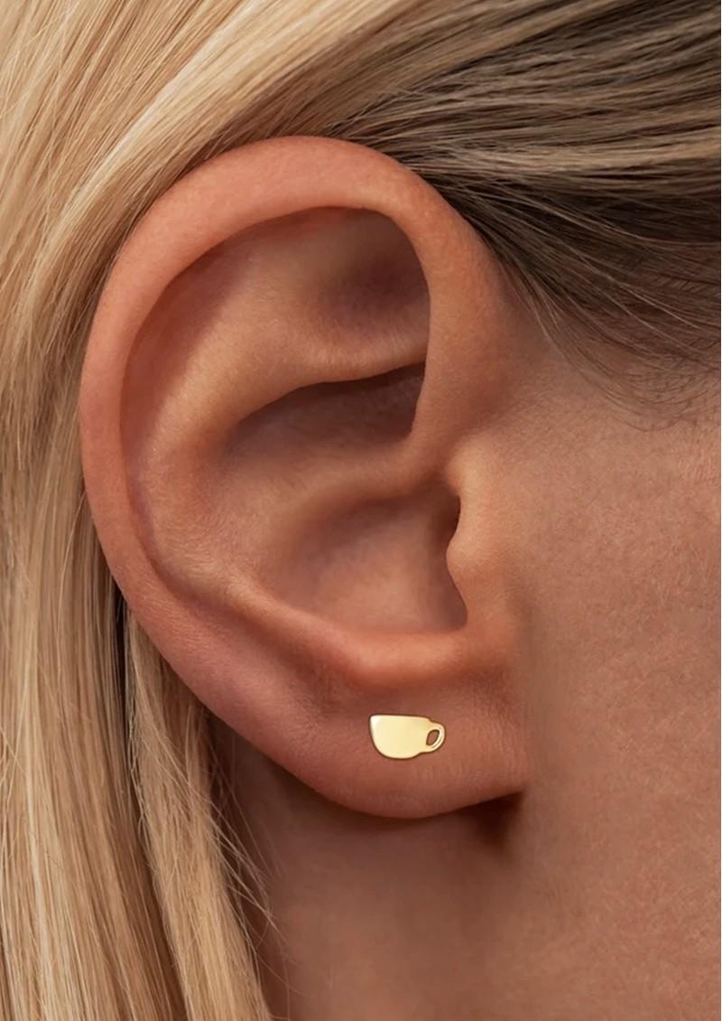 LULU COPENHAGEN Single Date Earring - Gold main image