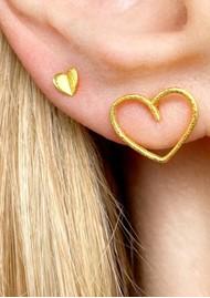 LULU COPENHAGEN Single Happy Heart Earring - Gold