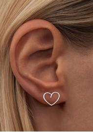 LULU COPENHAGEN Single Happy Heart Earring - Silver