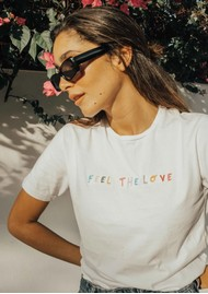 OLIVE & FRANK Feel The Love Cotton Tee - White