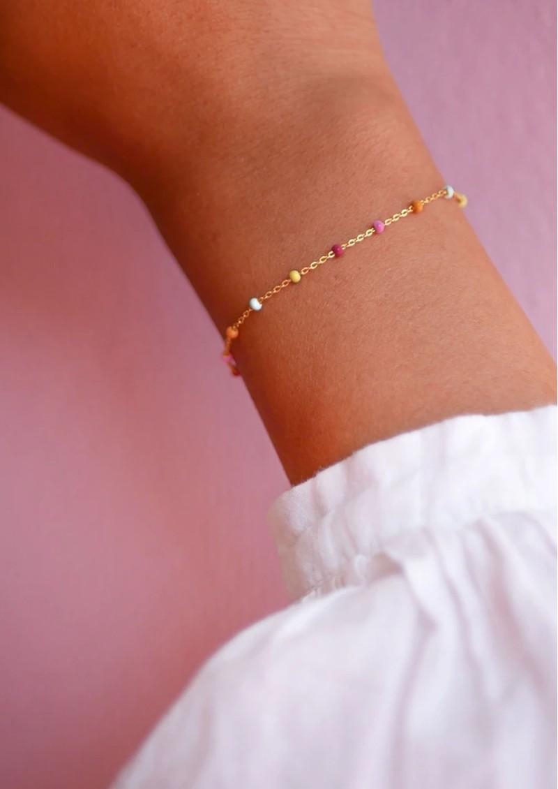 ENAMEL COPENHAGEN Lola Fine Chain Bracelet - Rainbow main image