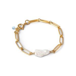 Viola Fresh Water Pearl Chain Bracelet - Gold