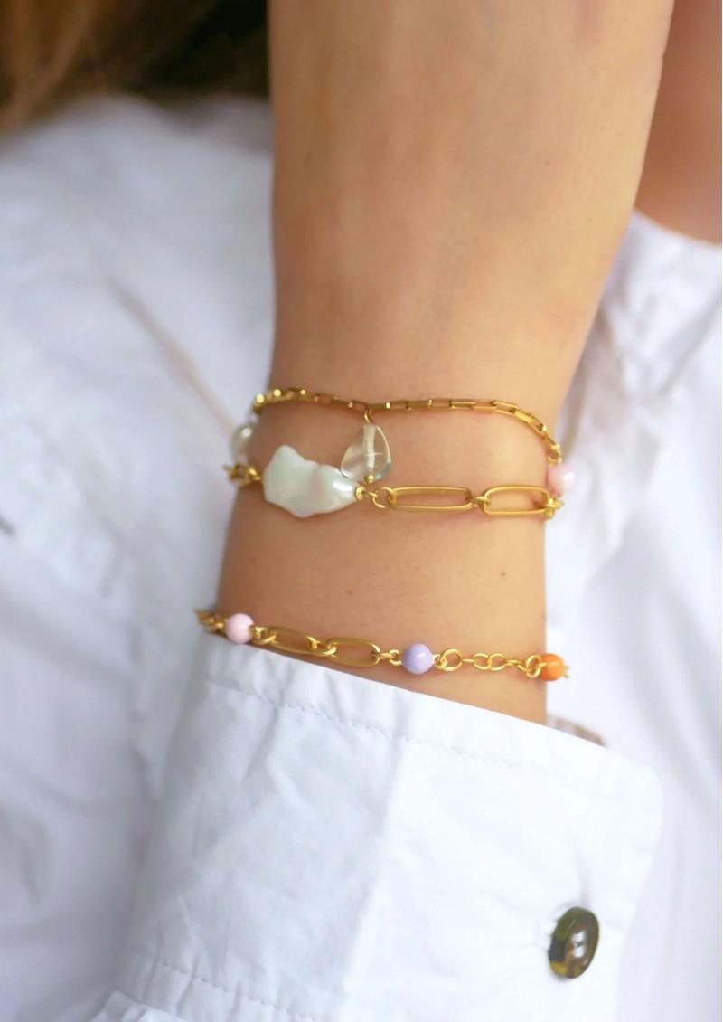 ENAMEL COPENHAGEN Viola Fresh Water Pearl Chain Bracelet - Gold main image