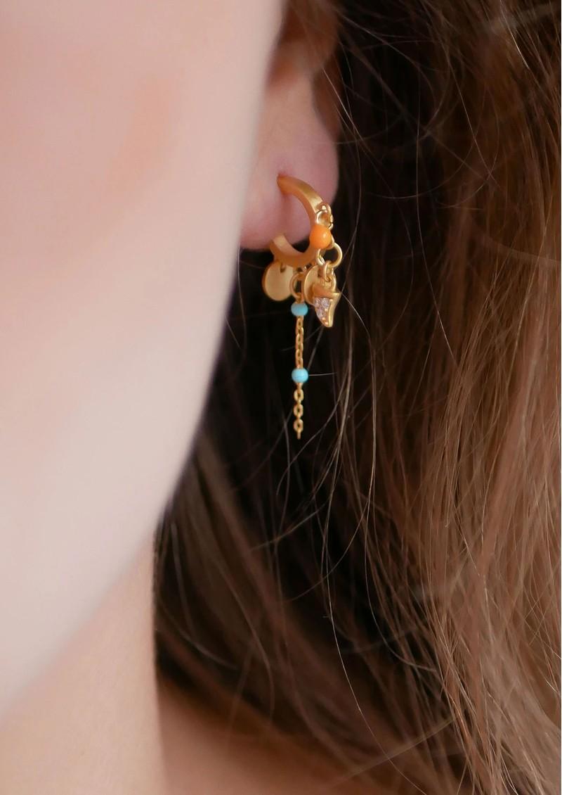ENAMEL COPENHAGEN Svana Hoop Earrings - Gold main image