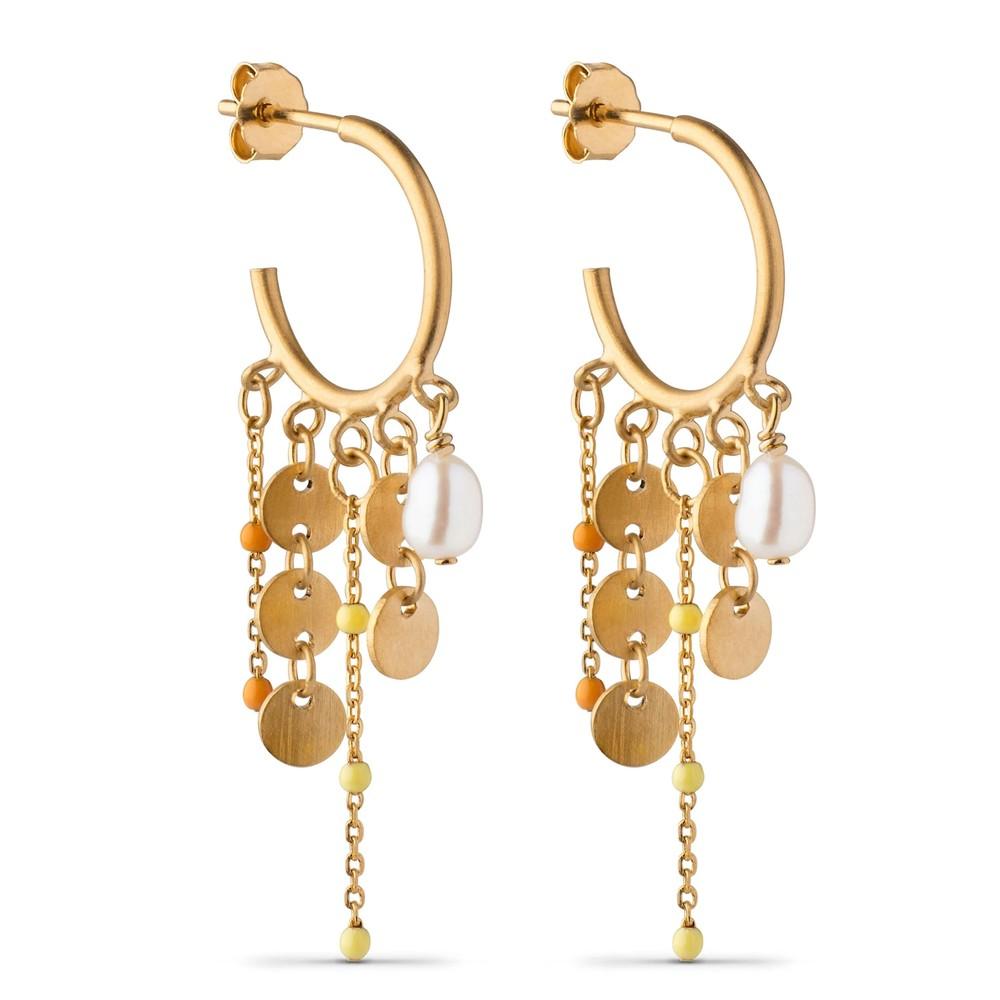 Lua Hoop Earrings - Gold