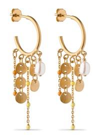 ENAMEL COPENHAGEN Lua Hoop Earrings - Gold