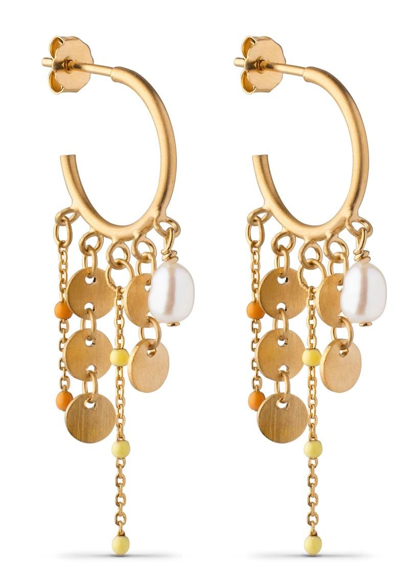 ENAMEL COPENHAGEN Lua Hoop Earrings - Gold main image