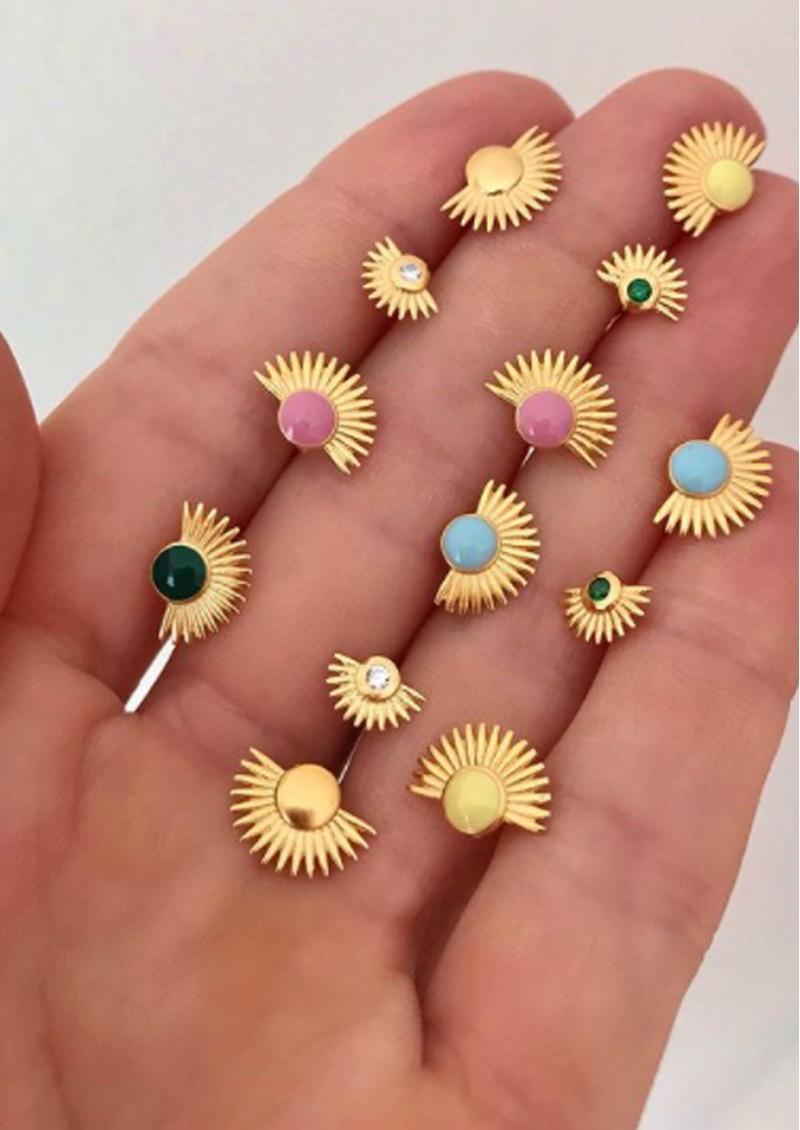 ENAMEL COPENHAGEN Soleil Stud Earrings - Clementine main image