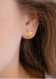 ENAMEL COPENHAGEN Soleil Stud Earrings - Clementine