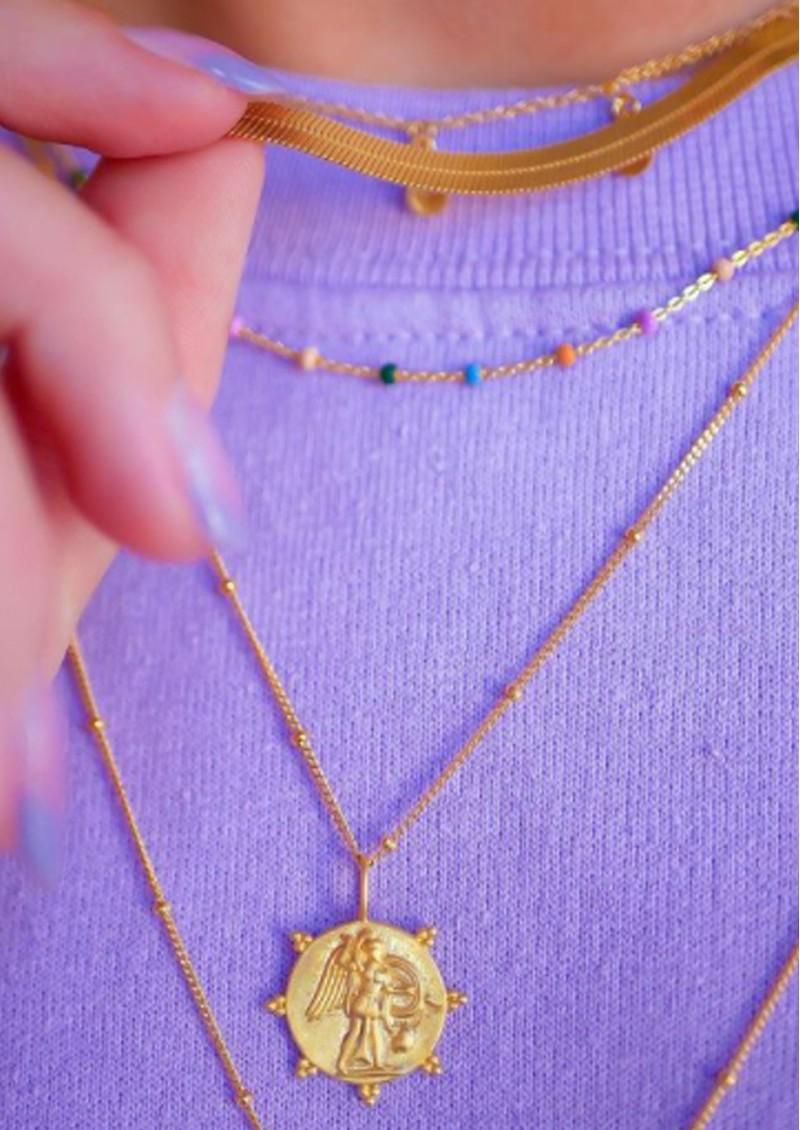 ENAMEL COPENHAGEN Angel Pendant Necklace - Gold main image