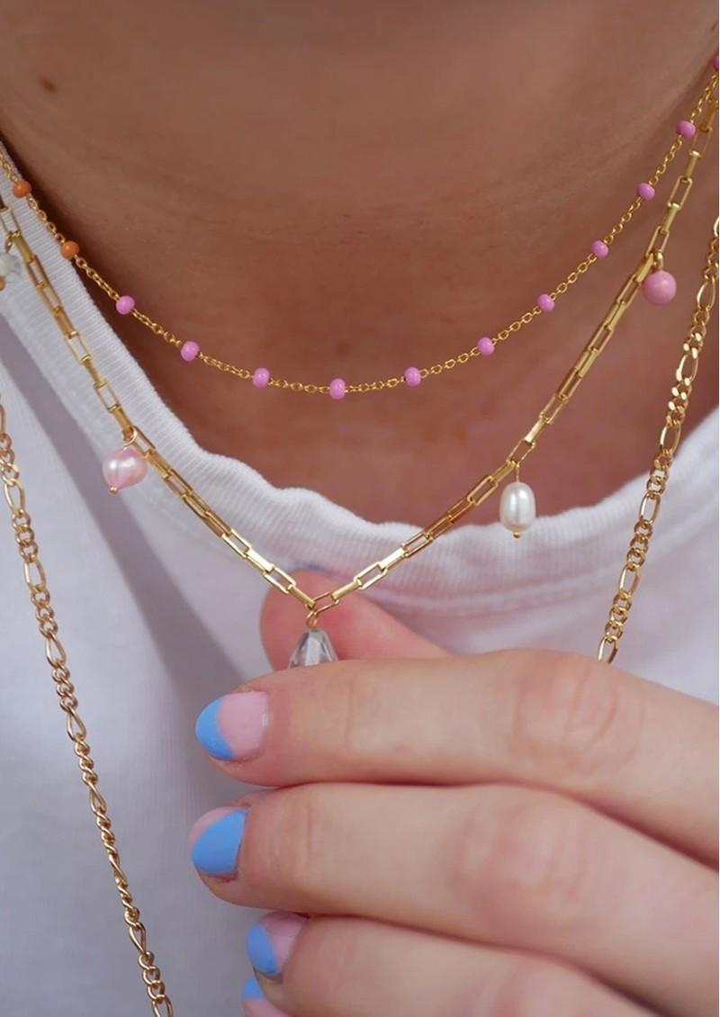 ENAMEL COPENHAGEN Lola Enamel Necklace - Sunrise main image