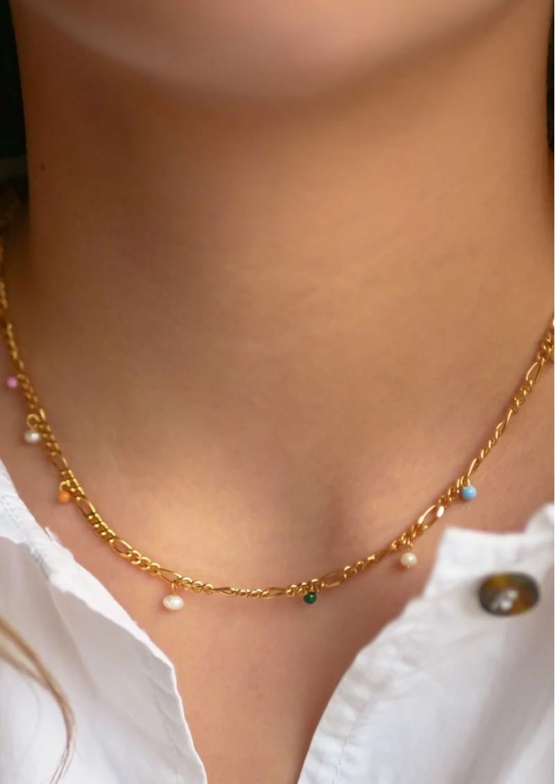 ENAMEL COPENHAGEN Willa Enamel Necklace - Gold main image
