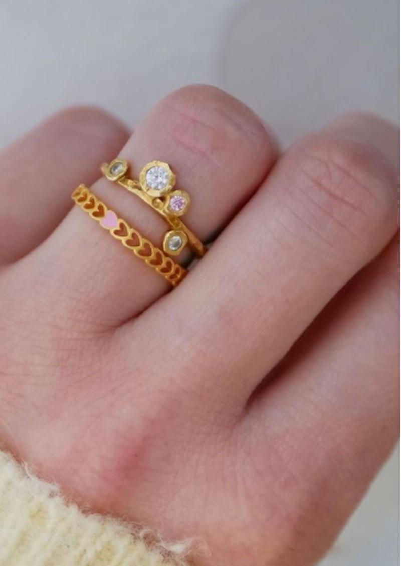 ENAMEL COPENHAGEN Rose Ring - Gold main image