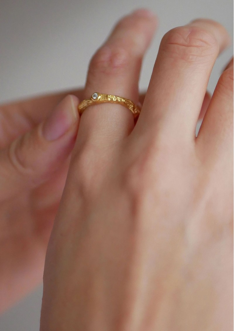 ENAMEL COPENHAGEN Coralie Ring - Gold  main image