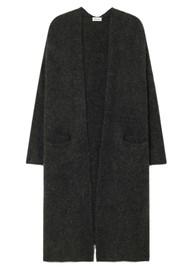 American Vintage East Long Sleeve Long Cardigan - Charcoal Melange