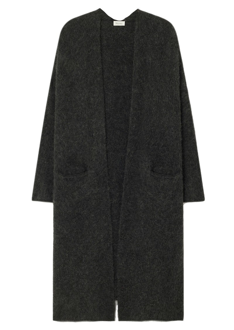 American Vintage East Long Sleeve Long Cardigan - Charcoal Melange main image