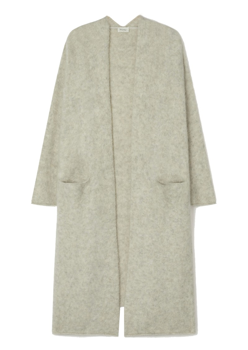 American Vintage East Long Sleeve Long Cardigan - Powder Snow main image