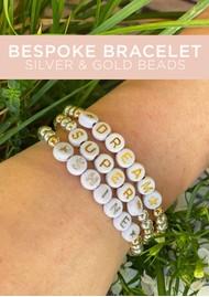 BONNY & BLITHE Bespoke Beaded Bracelet - Silver & Gold Beads