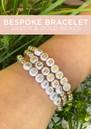 Bespoke Beaded Bracelet - Silver & Gold Beads additional image