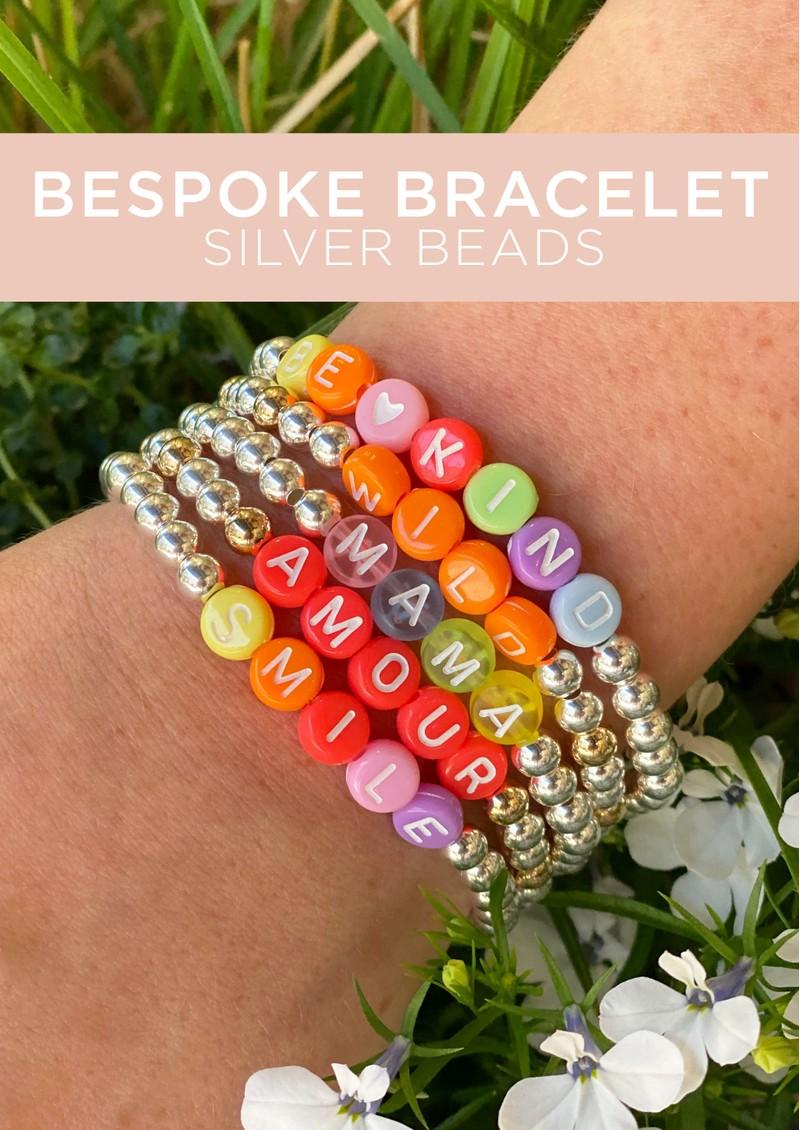 BONNY & BLITHE Bespoke Beaded Bracelet - Silver Beads main image