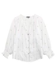 Rails Mariah Cotton Blouse - White Mini Buds