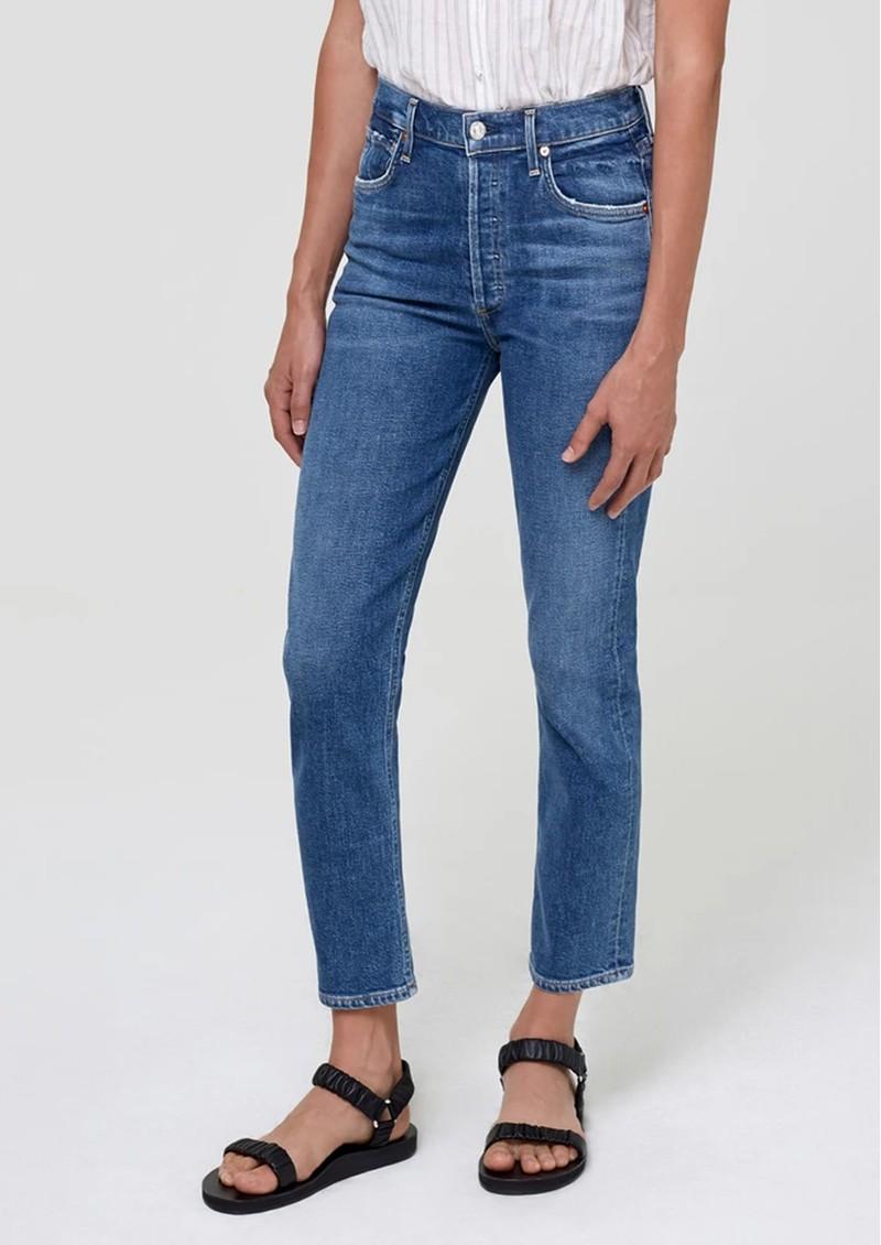 CITIZENS OF HUMANITY Charlotte High Rise Straight Leg Jeans - Dancefloor main image