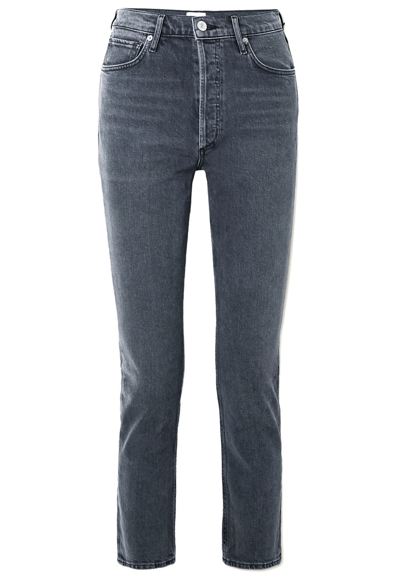 CITIZENS OF HUMANITY Charlotte High Rise Straight Leg Jeans - Whisper main image