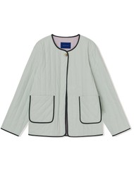 RESUME Femke Quilted Cotton Jacket - Mint
